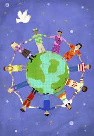 Multi-cultural globe